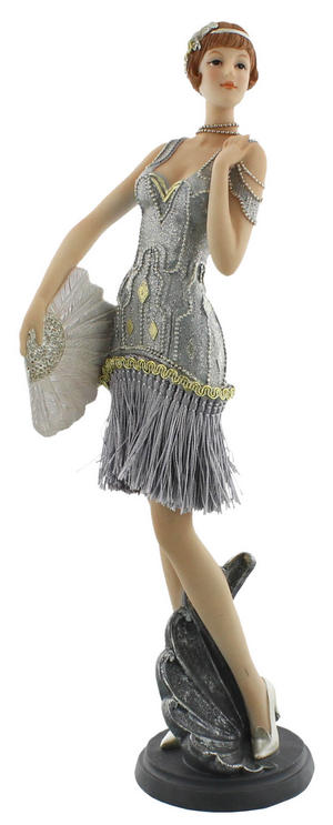 Juliana 'Gatsby Girls' Figurine Standing with Fan - Daisy Preview