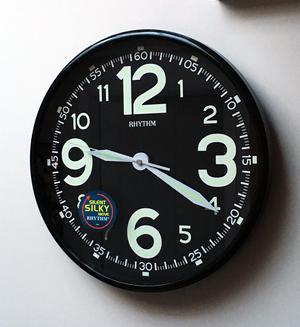Rhythm Value Added Wall Clock Black Plastic Case Super Luminous Preview