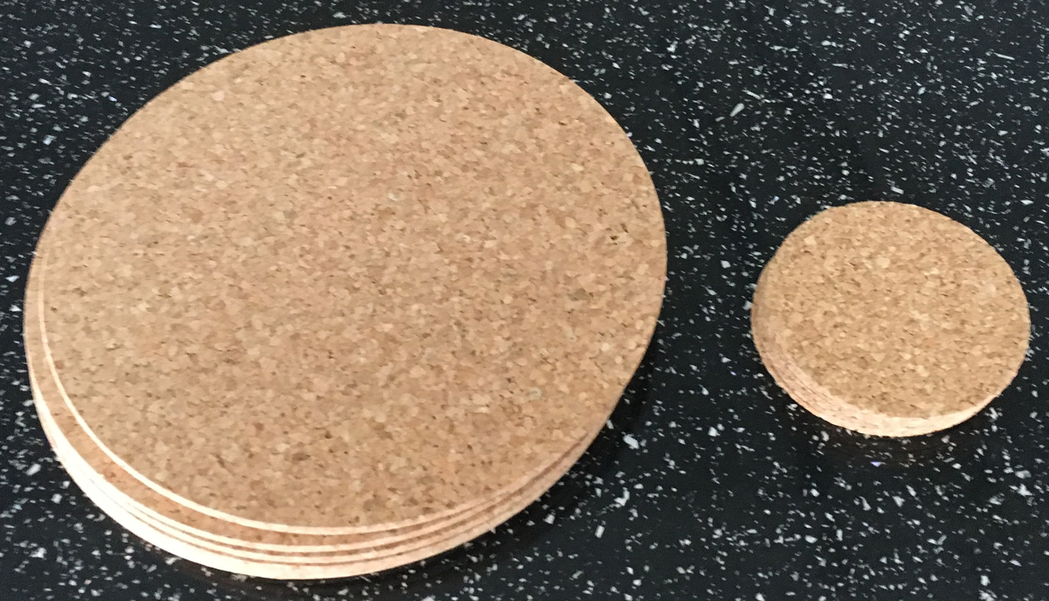 Vintage Round Cork Placemats Drinks Coasters Kitchen