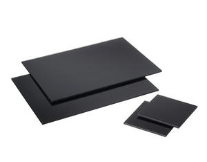 Rectangle Black Glass Placemats Drinks Coasters Dining Table Mats 2 Of Each Set Preview