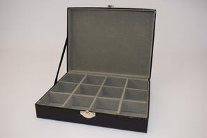 Harvey Makin Lizard Skin Finish Cufflink Box Holds 12 Cufflinks Preview