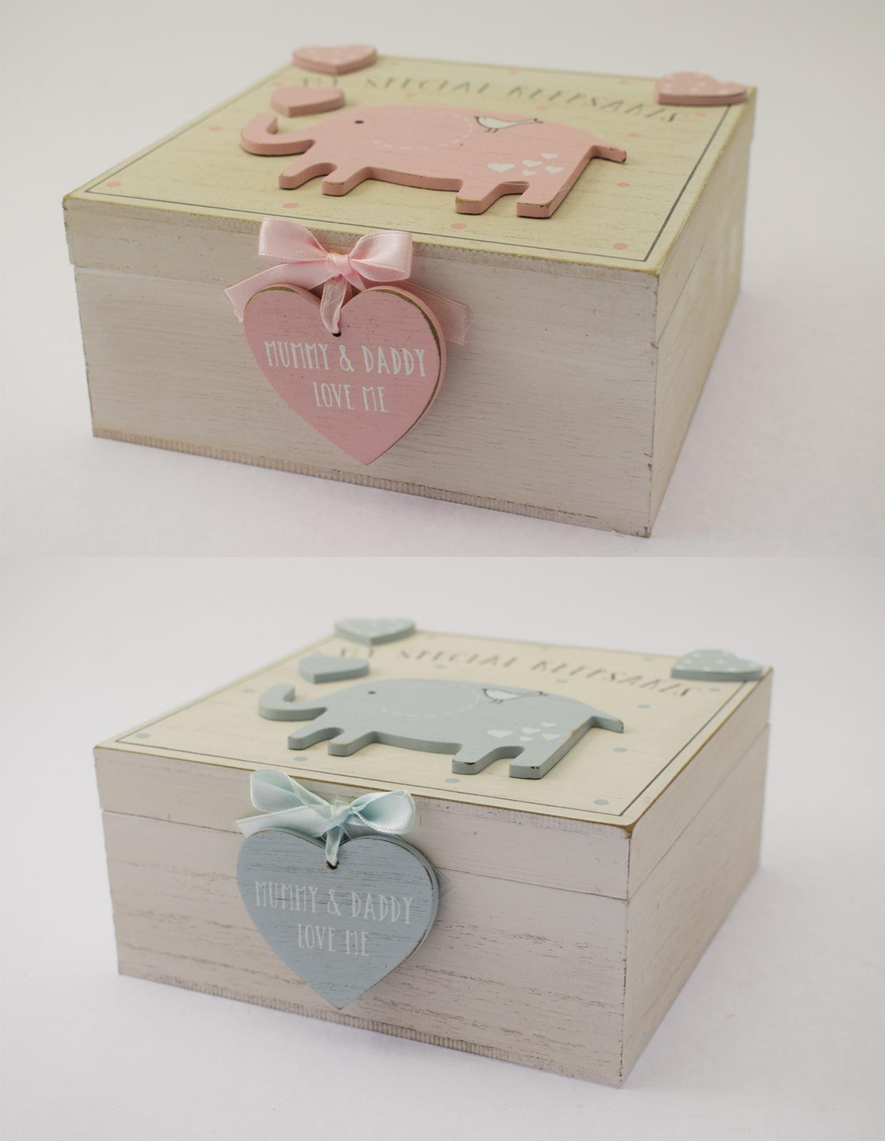 NEW Baby Boy Girl Wooden Memories Keepsake Memory Box ...