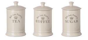 Majestic Cream Ceramic Tea Coffee Sugar Canisters Preview