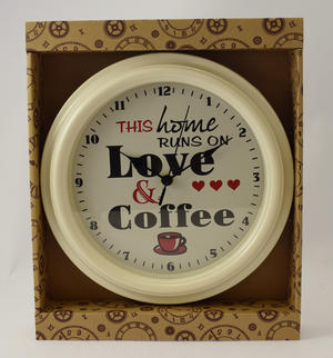 Home Runs on Love and Coffee Wall Clock Preview