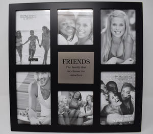 """Impressions Multi Aperture Photo Frame 6 Pictures """"Friends"""" Preview"""
