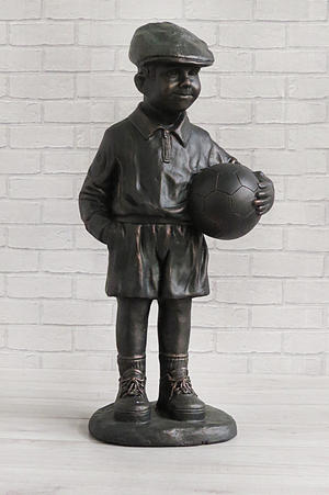 Bronze Colour Billy Boy with Ball Standing Garden Statue Preview