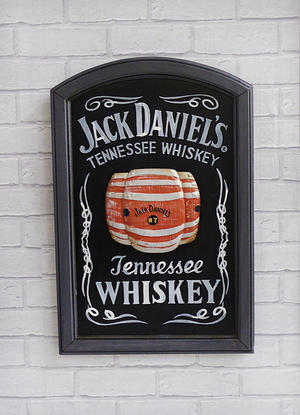Black and White Jack Daniels Pub Sign Preview