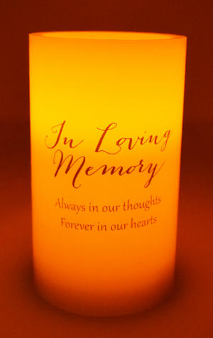 Thoughts of You' LED Wax Candle - In Loving Memory Preview