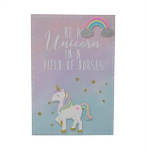 Unicorn Magic Be A Unicorn In A Field Of Horse Rainbow Plaque Preview