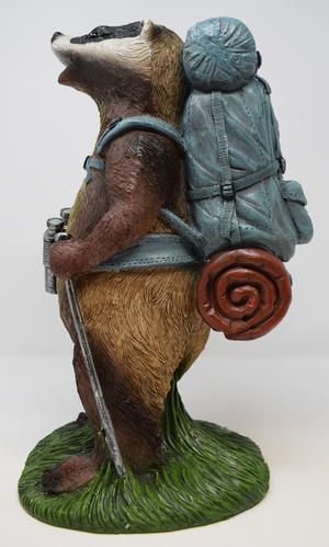 Hiking Badger Garden Statue Ornament Preview