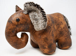 Faux Leather Heavy Elephant Door Stop Preview
