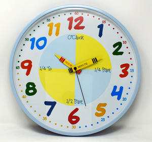 Teach The Time Wall Clock In Blue Preview