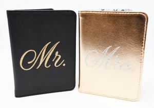 Set of 2 Mr and Mrs Passport Covers Set Preview