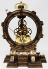 View Item Skeleton Cogs Steampunk Time Machine Mantel Clock - D2953H7