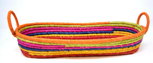 Multi Colour Raffia Bread Basket Preview