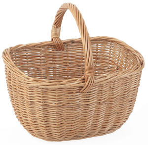 Wicker Shopping Basket With Handle Preview