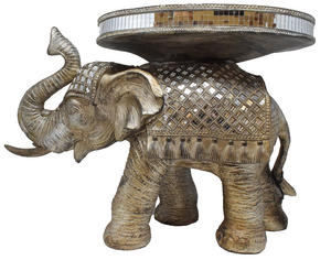Decorative Small Silver Elephant Table Preview