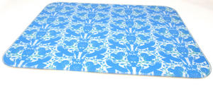 Glass Worktop Saver Chopping Board Woodland Friends In Blue Preview