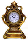 View Item Small Ornate Antique Gold Gilt Baroque Style Mantel Clock