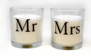 Mr and Mrs Candle Wedding Day Gift Set of 2 Preview