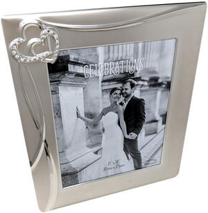 "8x10"" Entwined Hearts Wedding Day Photo Frame Preview"