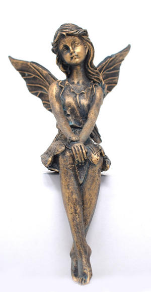 Angela Angel Bronze Effect Shelf Ornament Preview