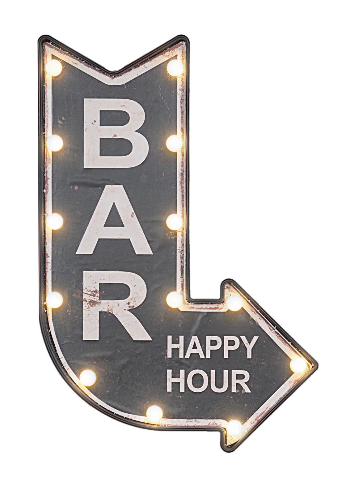 Large LED Light Up Arrow Bar Sign Wall Plaque Pub Decor