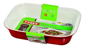 Pyrex Impressions Red Ceramic Rectangular Roaster Dish, Red, 31x20 cm Preview