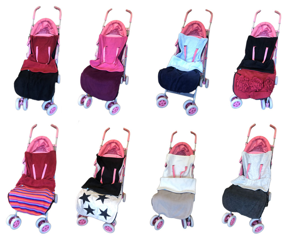 Footmuff//Cosy Toes Compatible with Buggy Pushchair Stroller Pram Dark Pink