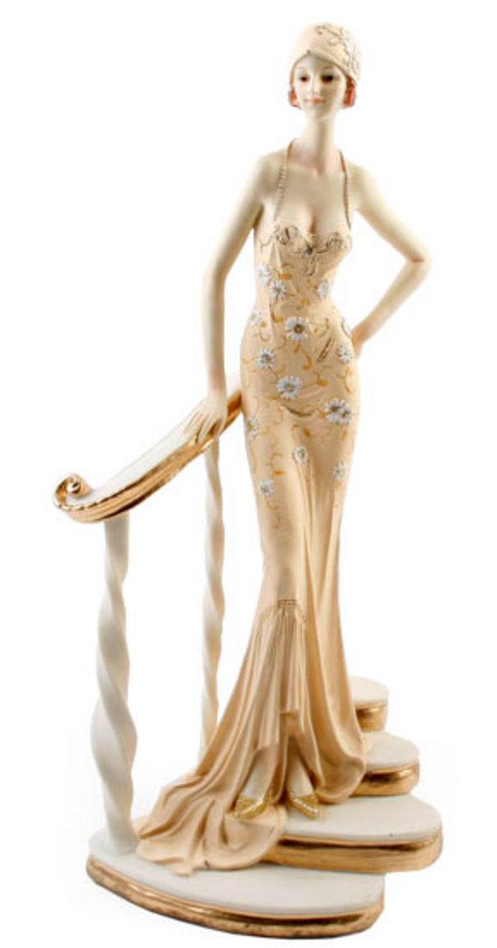 Art Deco Broadway Belles Lady Figurine Peach Colour 20