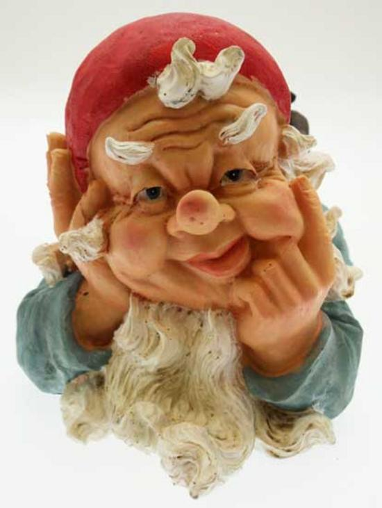 "Gnome In Garden: Large 13.5"" Garden Gnomes Ornament"