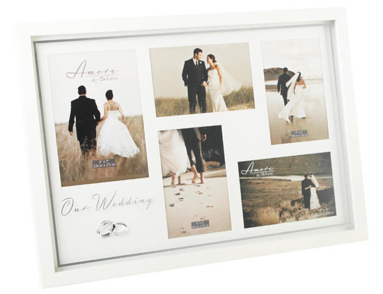 Amore Wedding Crystal Ring 5 Multi Photo Picture Frame 18\