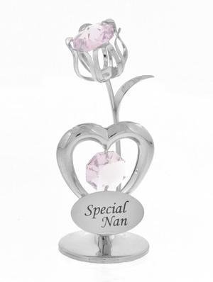 "Crystocraft Swarovski Crystal Celebration Heart + Tulip ""Special Nan"" Preview"