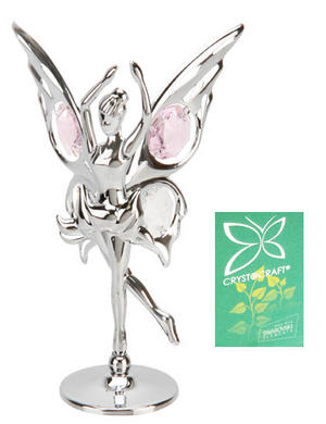 Crystocraft Silveplated Butterfly Fairy Dancing Gift Ornament Preview