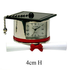 Miniature Novelty Clocks Graduation Hat and Scroll Preview
