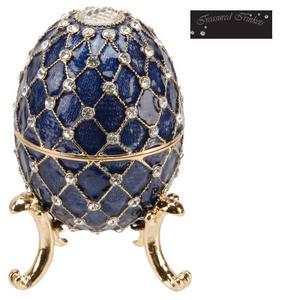 Treasured Trinkets Blue Large Egg Metal Die Cast Trinket Box Preview