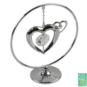 Crystocraft Freestanding Mobile Heart Crystal Gift Ornament Preview
