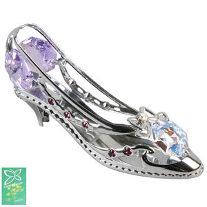 Crystocraft Silver High Heel Shoe Crystal Gift Ornament Preview