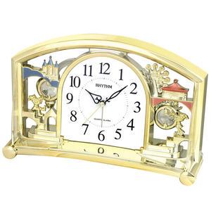RHYTHM Mantel Alarm Clock with Rotating Swarovski Pendulum Preview