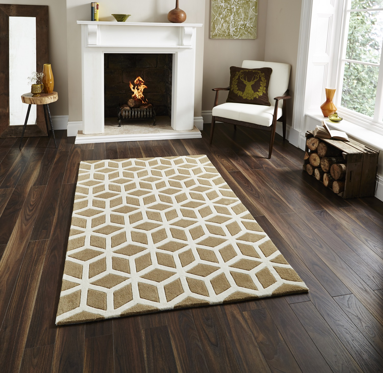 modern floor rugs – gurus floor - hand tufted optical illusion modern floor rug with