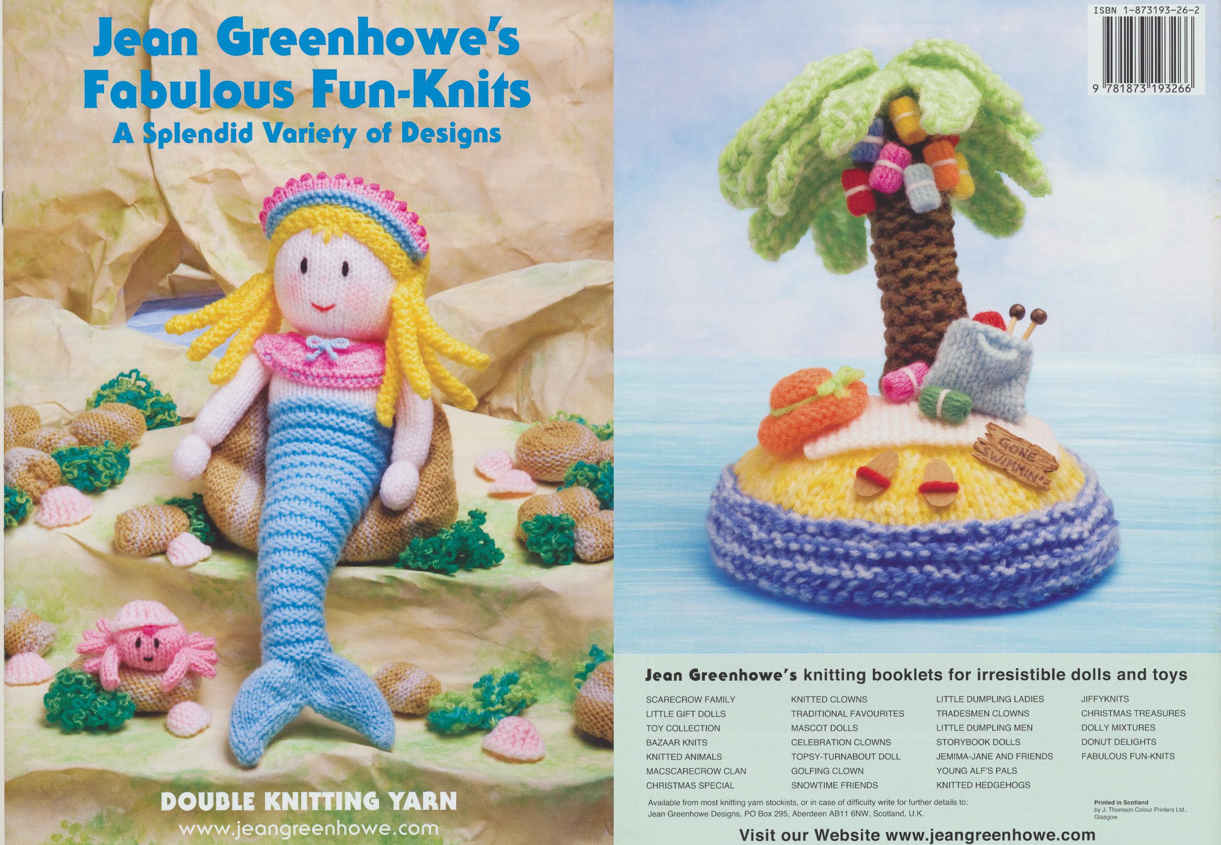 Jean Greenhowe Knitting Pattern Booklet Jiffyknits