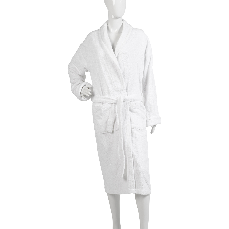 Womens Plain Towelling Dressing Gown Ladies 100% Cotton Wrap ...