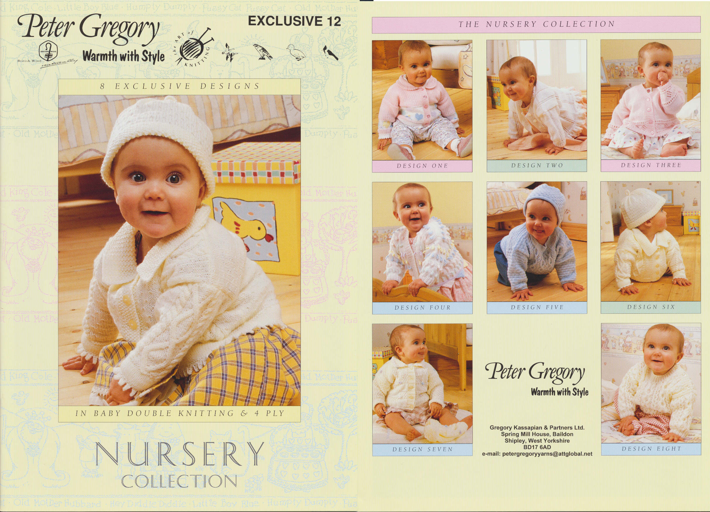ab6ddd950 Nursery Collection Baby Knitting Book Peter Gregory Patterns DK   4 ...
