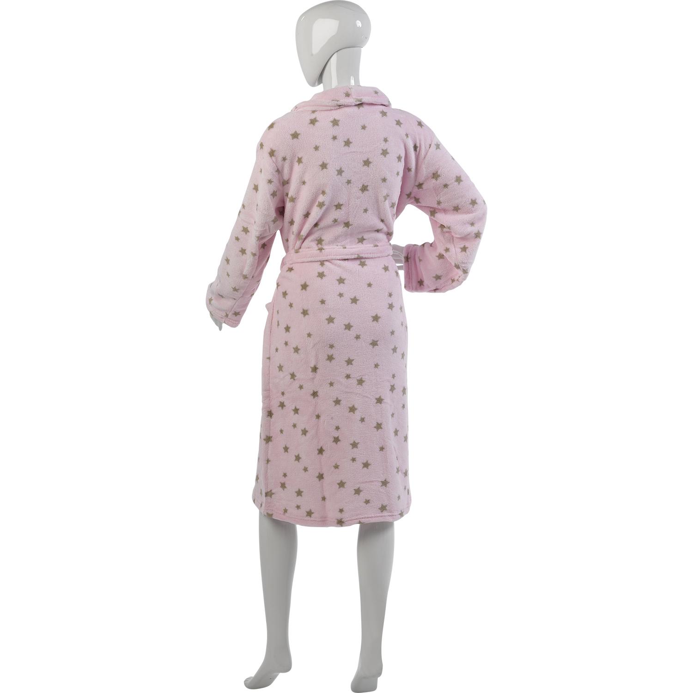 Womens Star Design Luxury Dressing Gown Ladies Soft Coral Fleece ... b12623689
