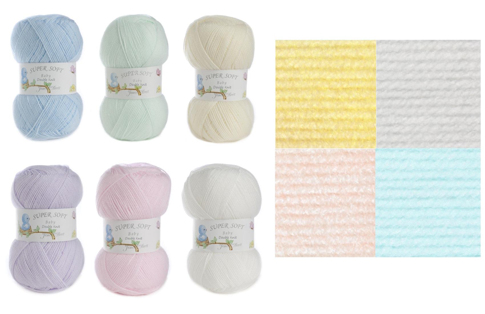 James C Brett Baby Double Knitting Yarn 100g soft 100/% Acrylic Shade BB9 Cream