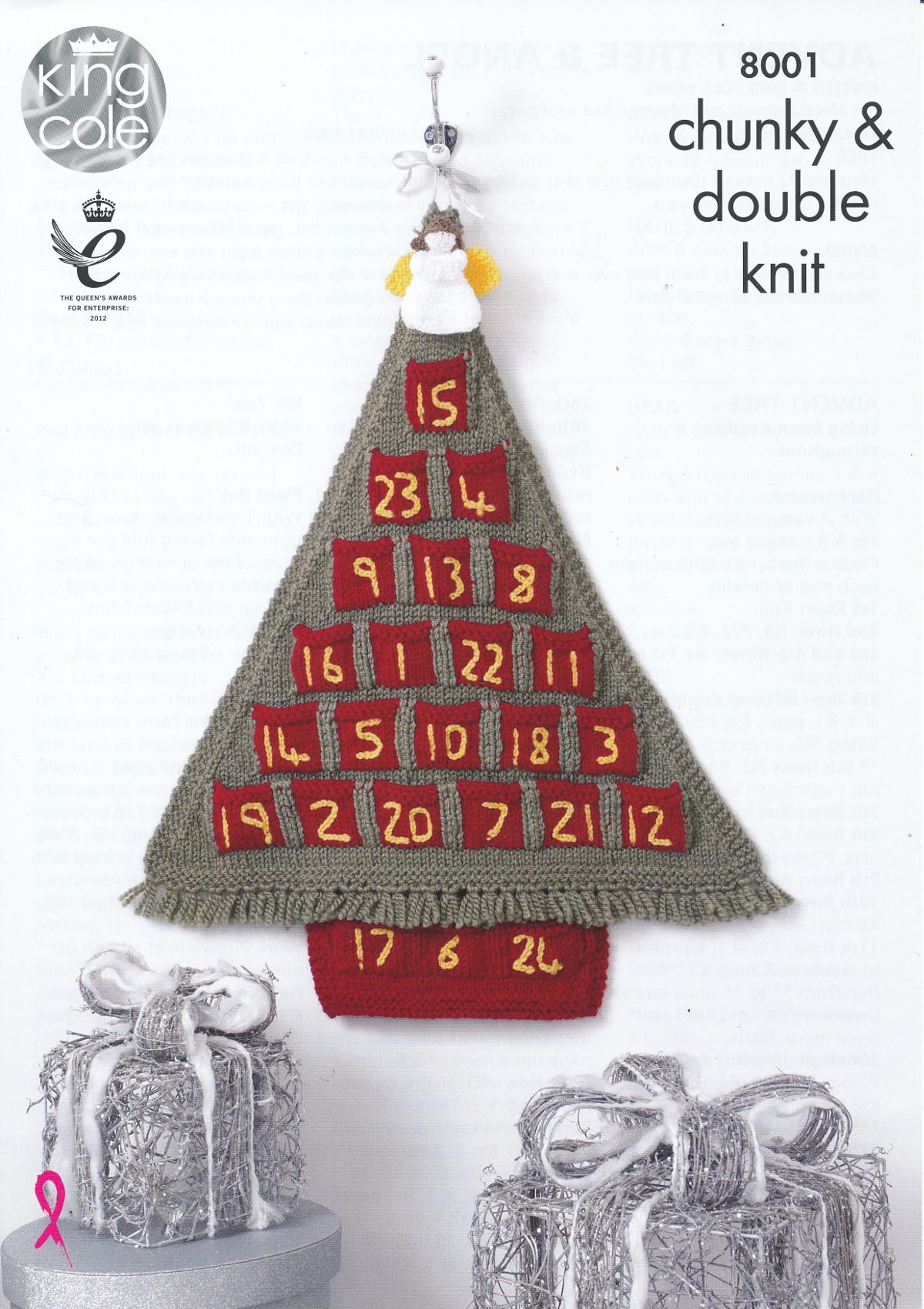 Advent Calendar Handmade Knitting : Christmas knitting pattern king cole angel toy