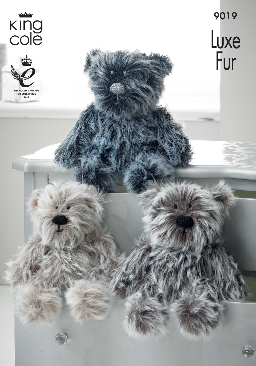 Luxe Fur Teddy Family Knitting Pattern King Cole Baby Mummy Daddy ...