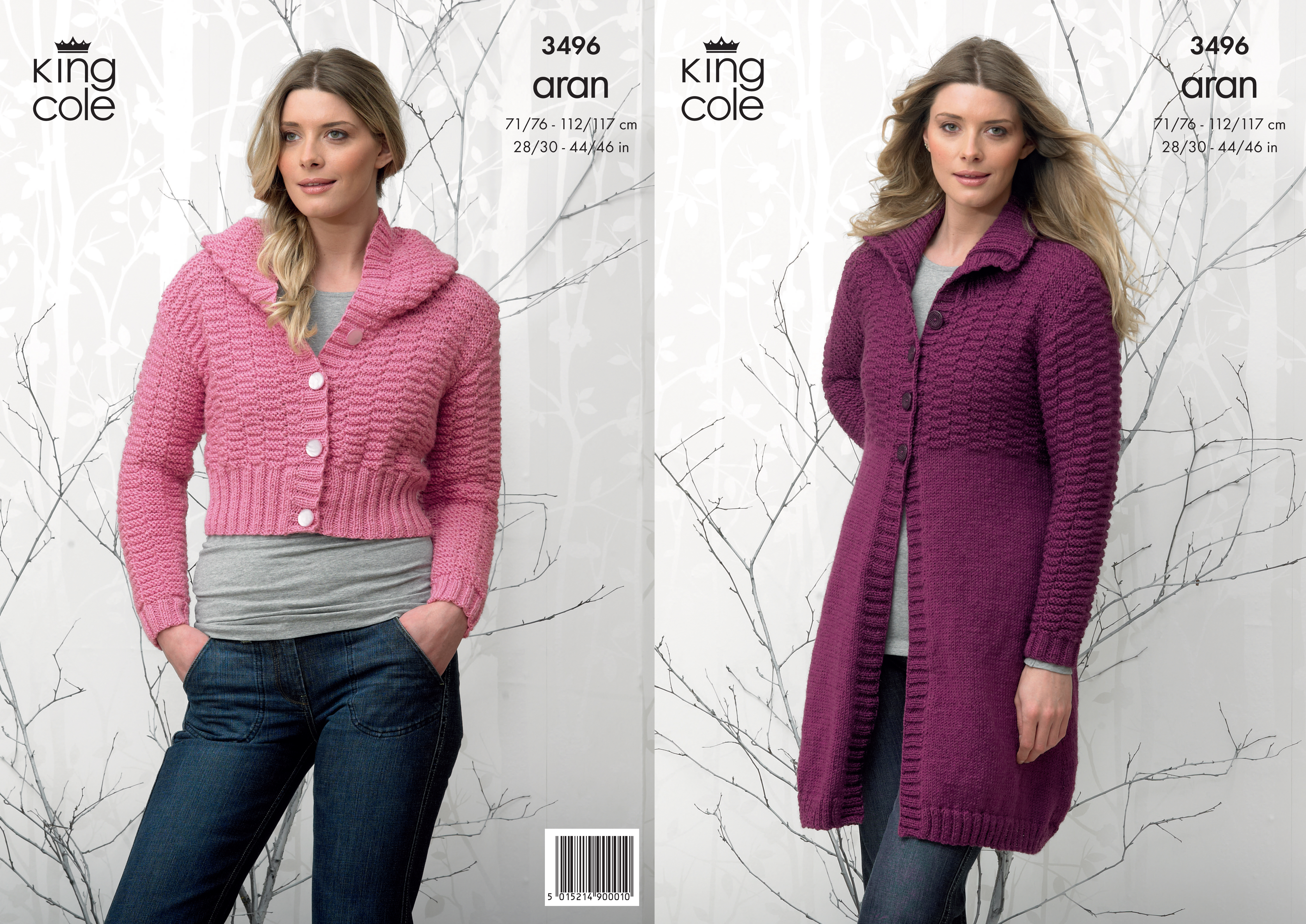 Ladies Aran Knitting Pattern Textured Jacket Hooded Cardigan King ...