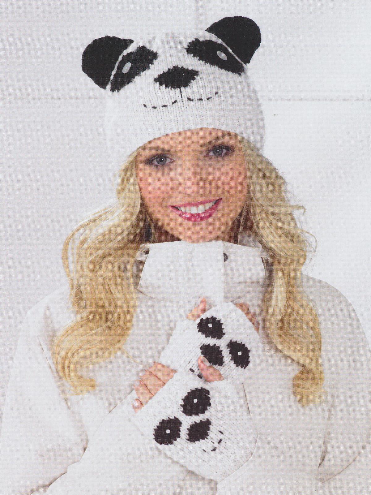 James Brett Double Knitting Pattern Womens Owl Panda Hat Fingerless ...