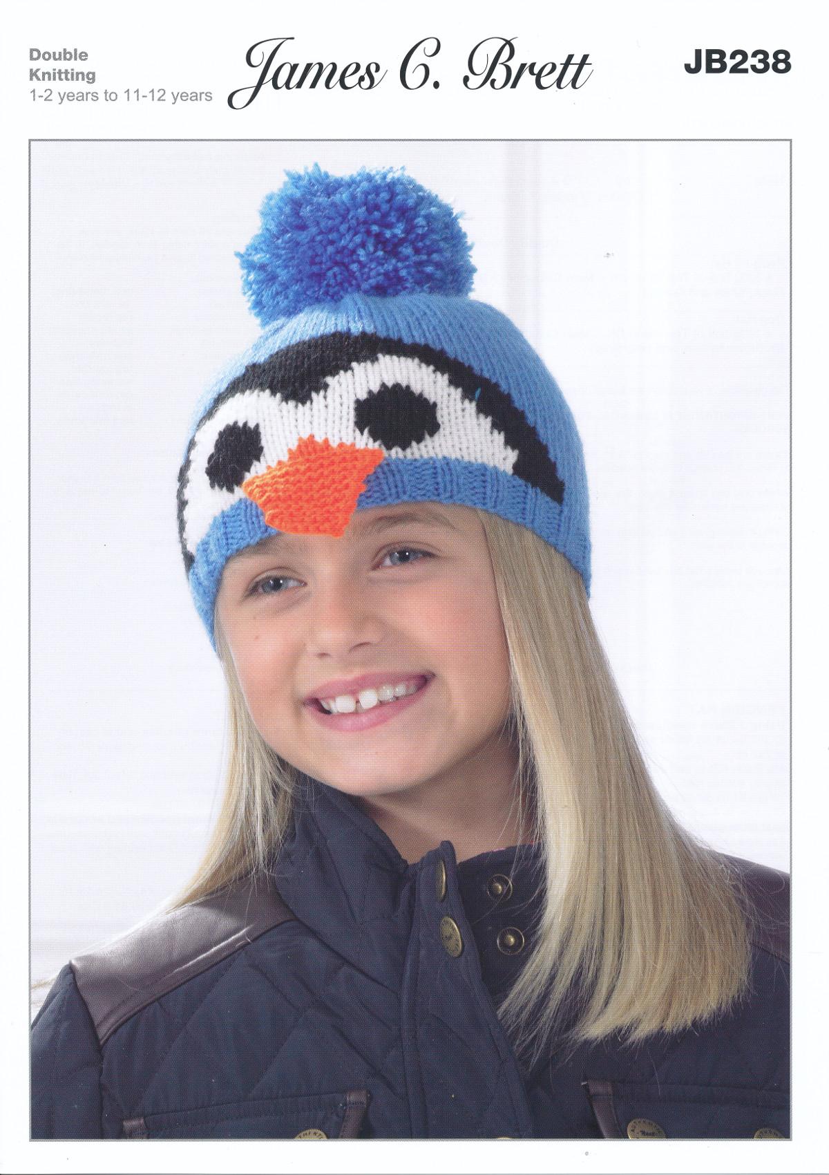 James Brett Double Knitting DK Pattern Girls Boys Penguin Dog Winter ...